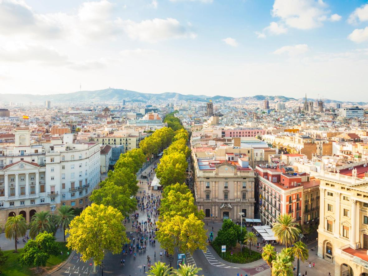 Watch the trees that line Las Ramblas burst into blossom in the spring