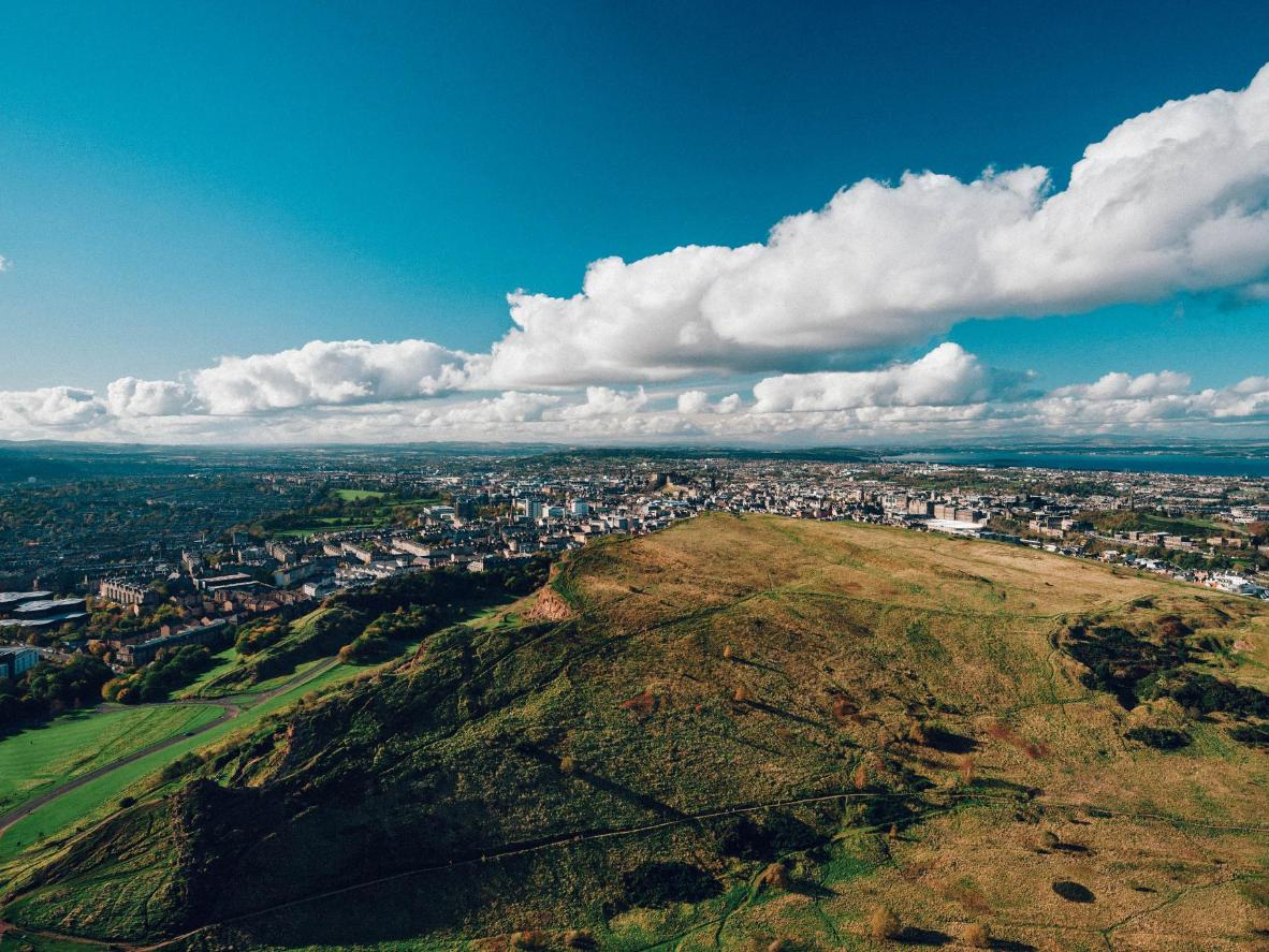 Edinburgh was built on and around an ancient volcano