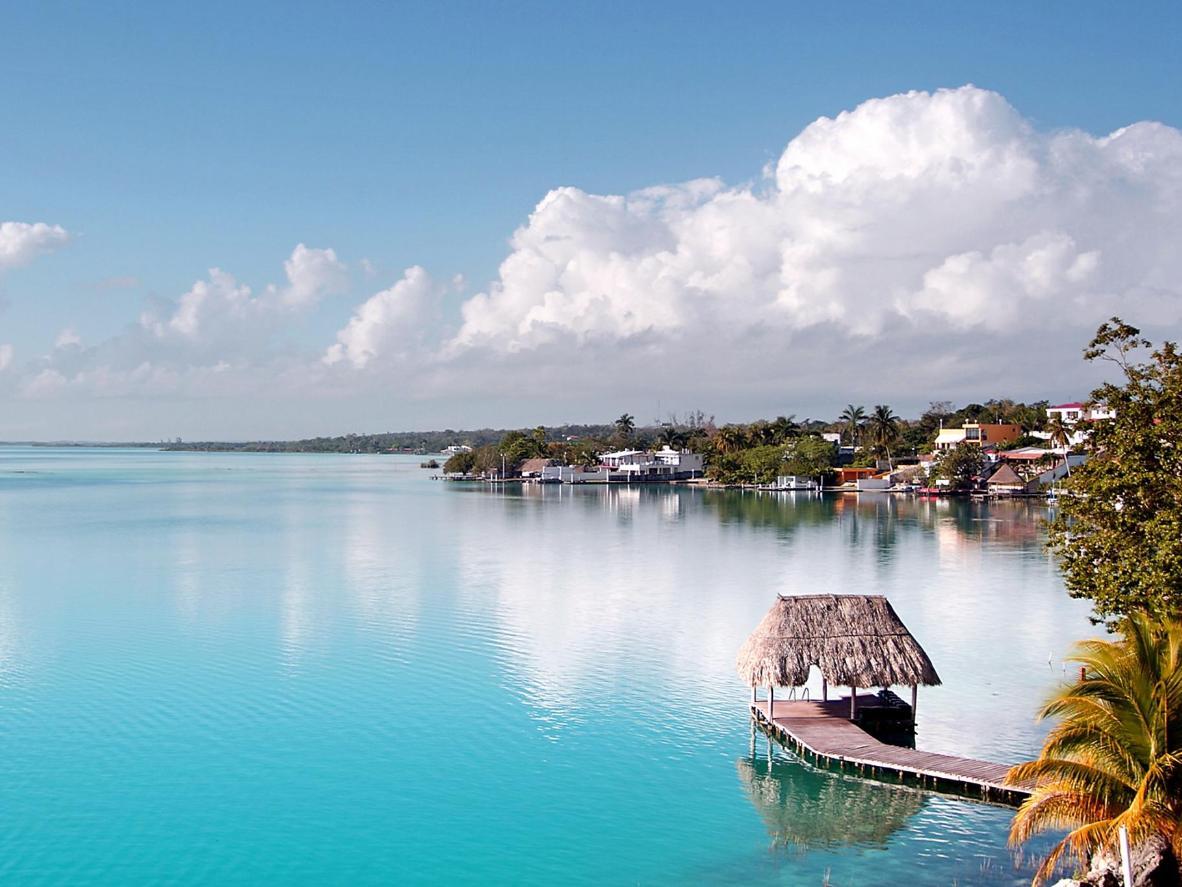 Bacalar's 'lagoon of seven colours'