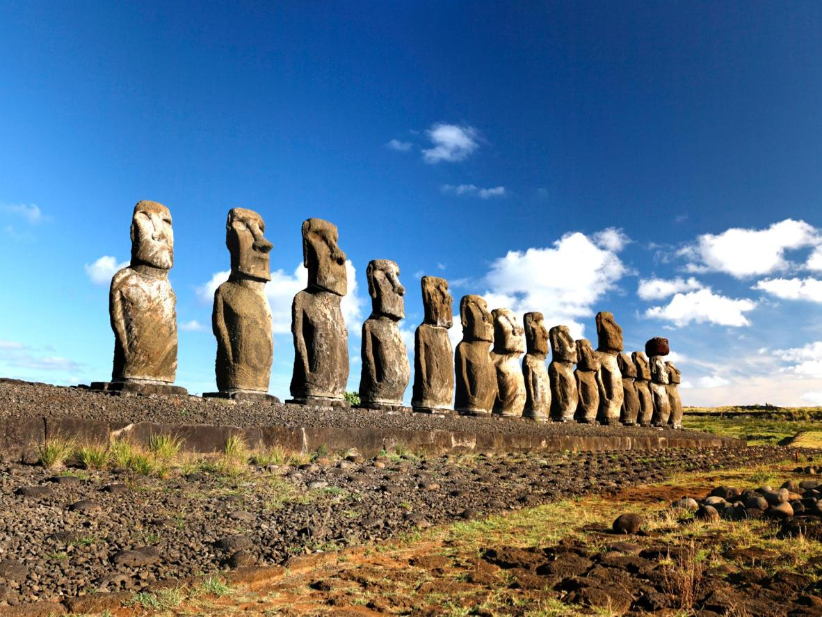 Easter Island's archaeological statues, called 'moai'