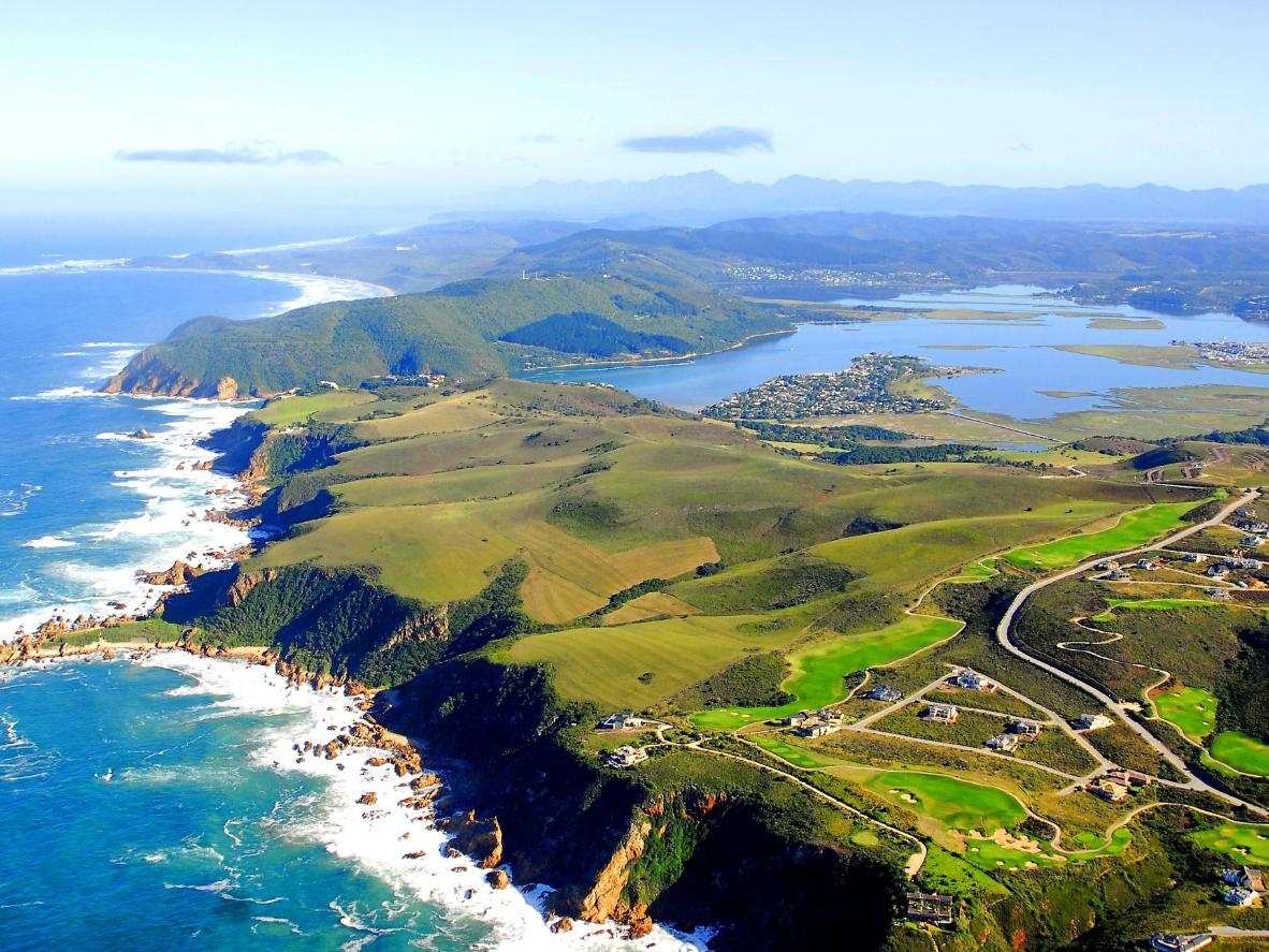 Aerial photo of Knysna, South Africa