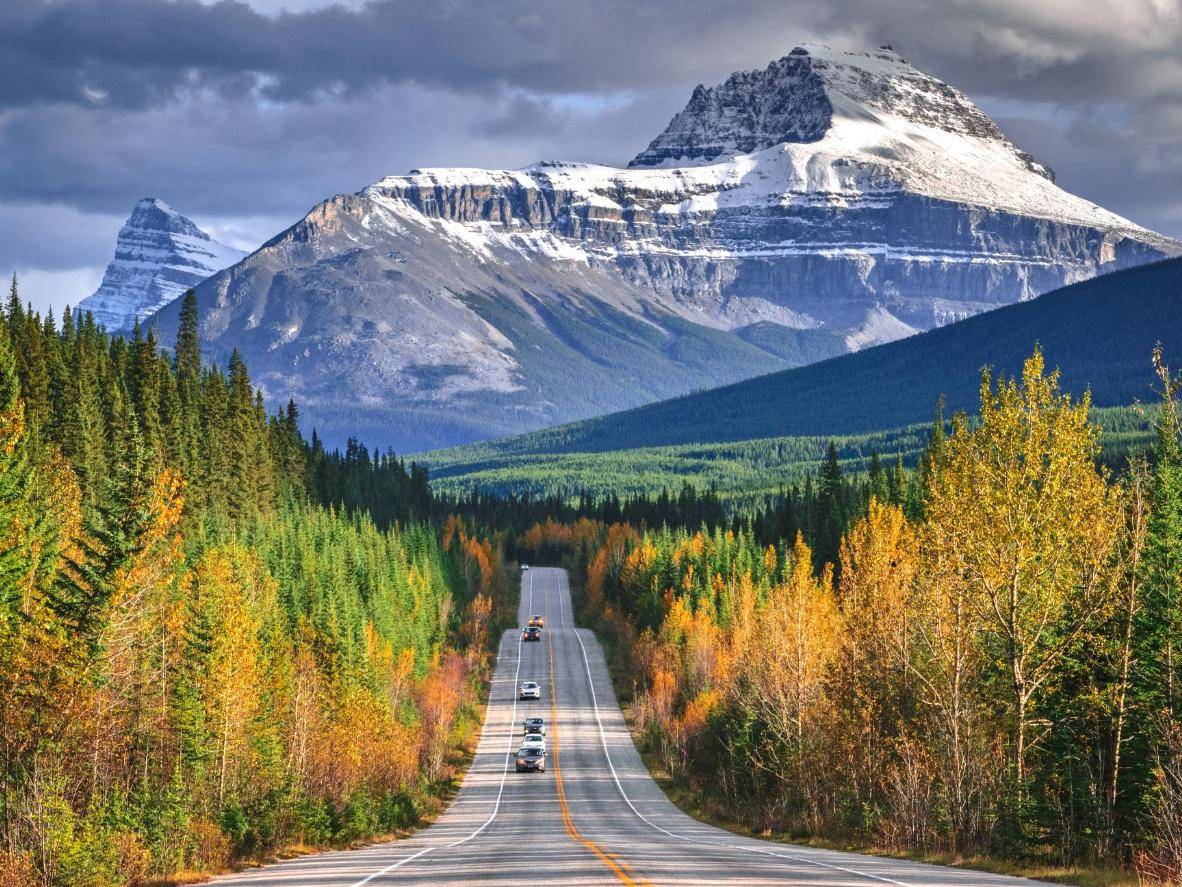 Autumn along the Icefields Parkway, Canada