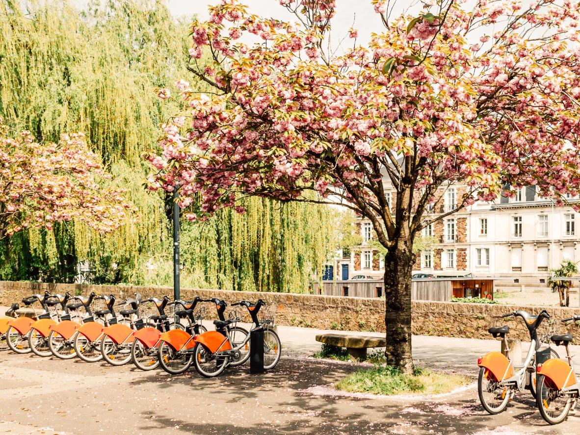 It's easy to hire a public bike to get around Nantes