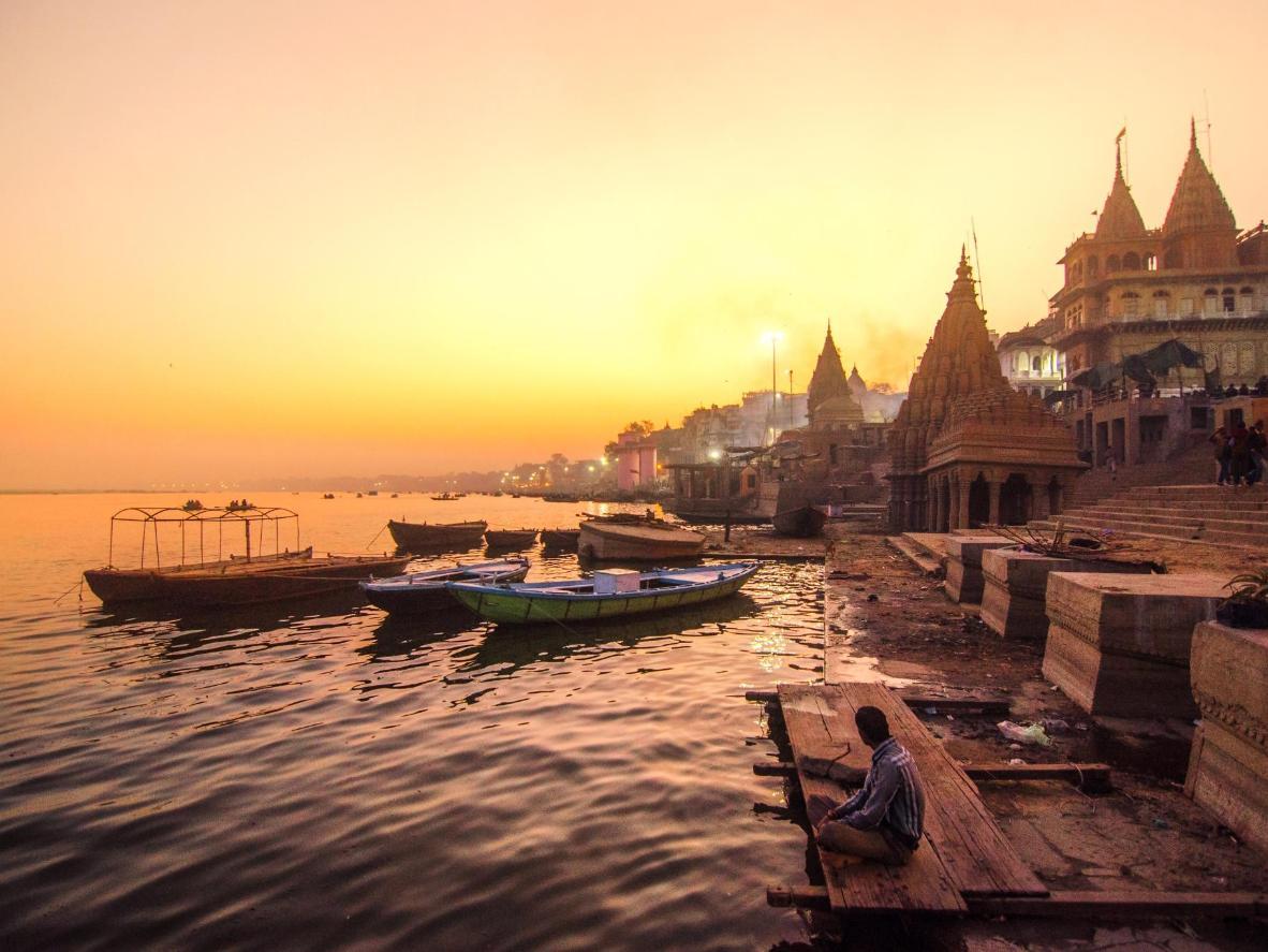 Ganges at sunset