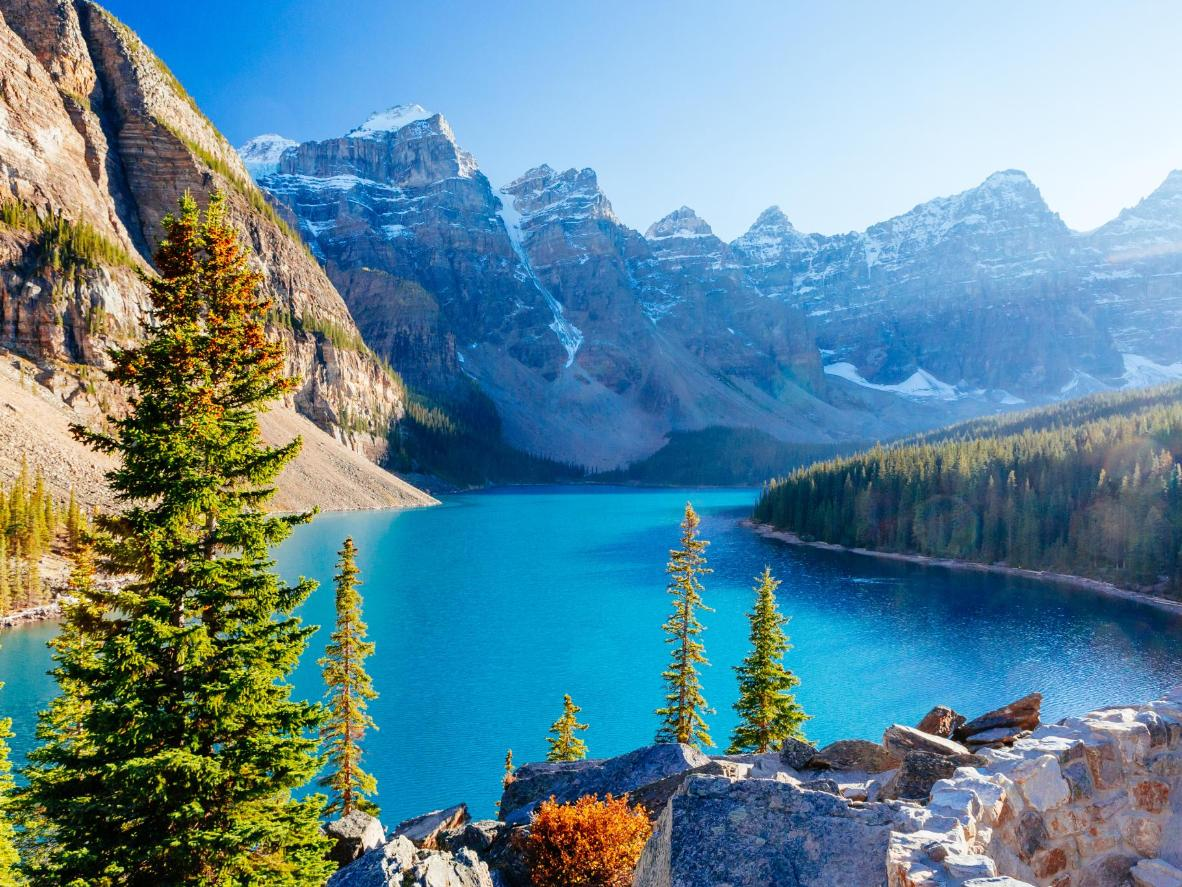Be awed by epic scenery in Banff