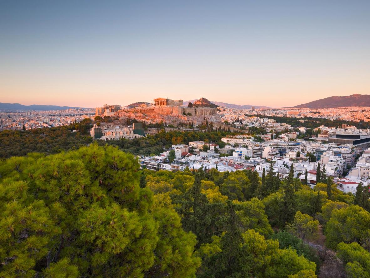 The city of Athens is fortunate to enjoy three glorious months of summer sun