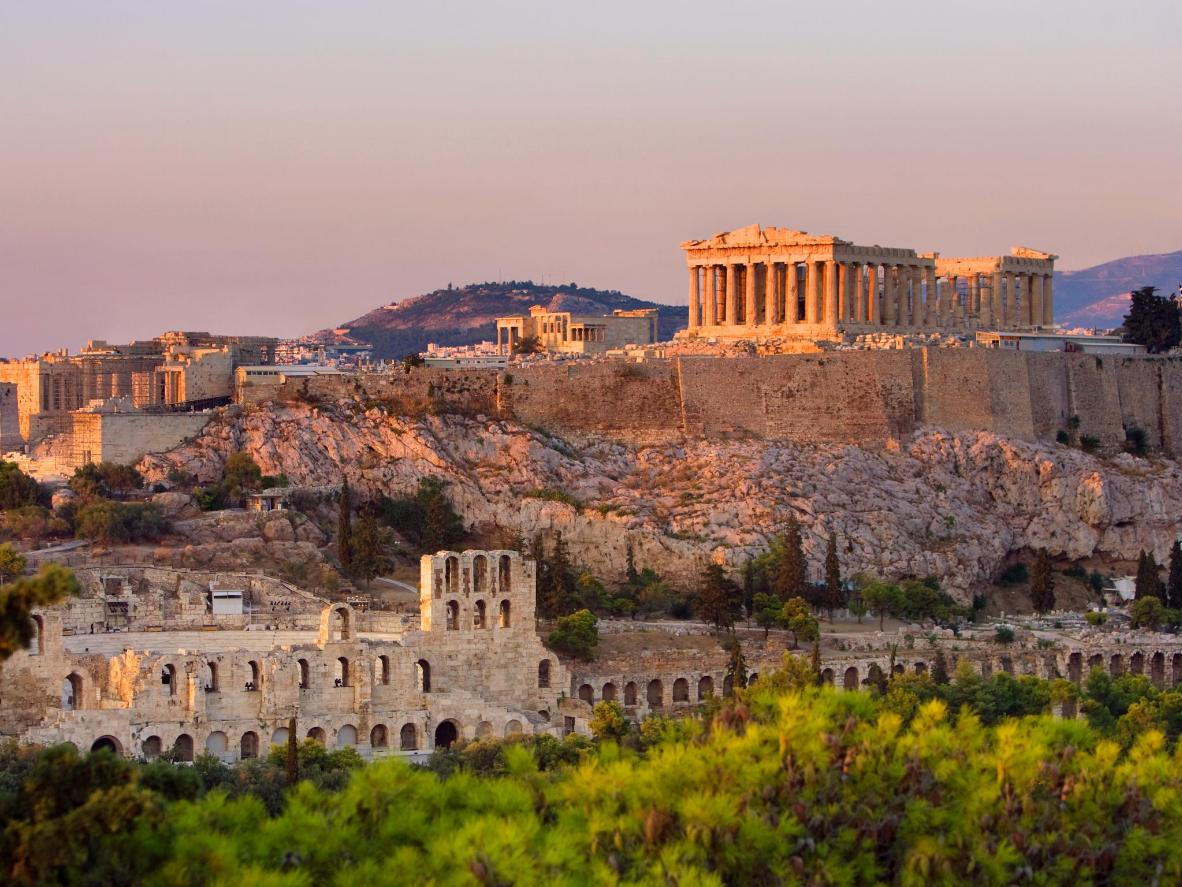Athens is best explored by foot in the fall when the temperatures become more bearable