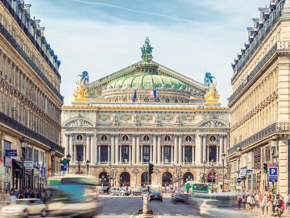 The Palais Garnier Opera House in Paris