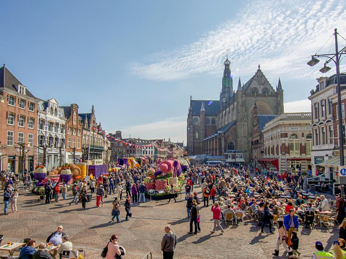 The festive flower parade of Bloemencorso, Haarlem