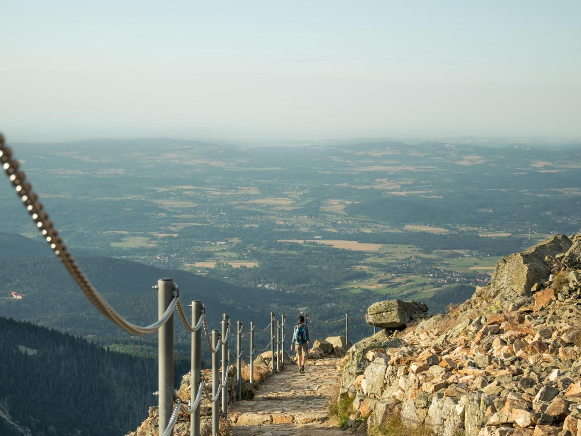 Visit during September's hiking season