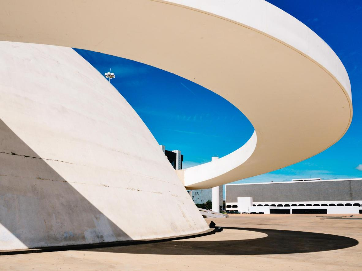 Clean, bold architectural lines in Brasilia's Federal District
