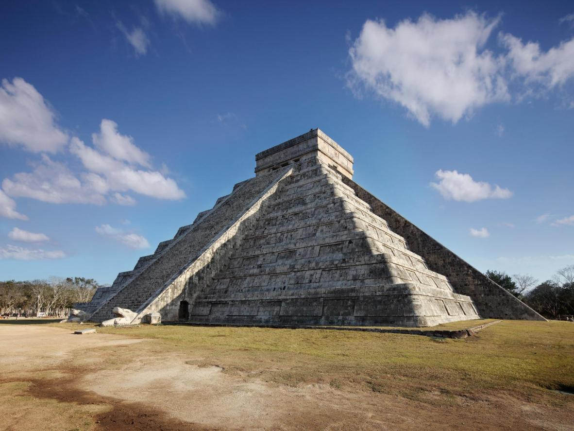A shadow illusion is cast over Chichen Itza on the equinox