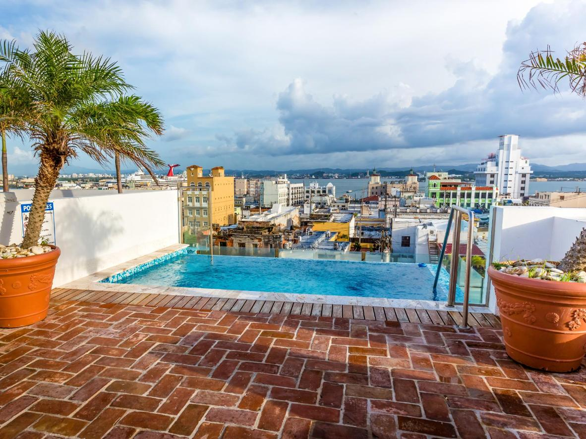 Wonderful views from La Terraza's rooftop pool