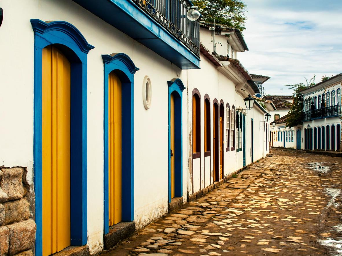 The multicoloured houses of Paraty's Old Town