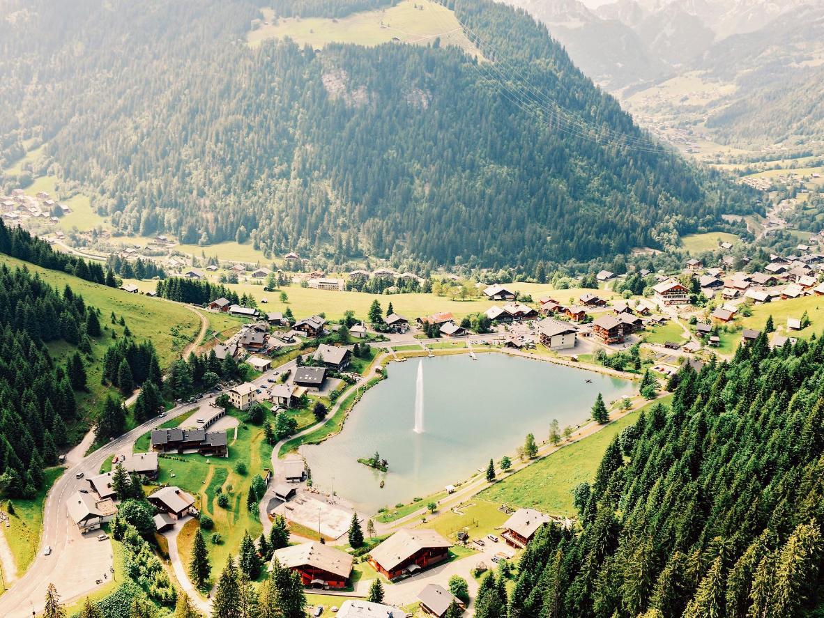 The town of Chatel in France