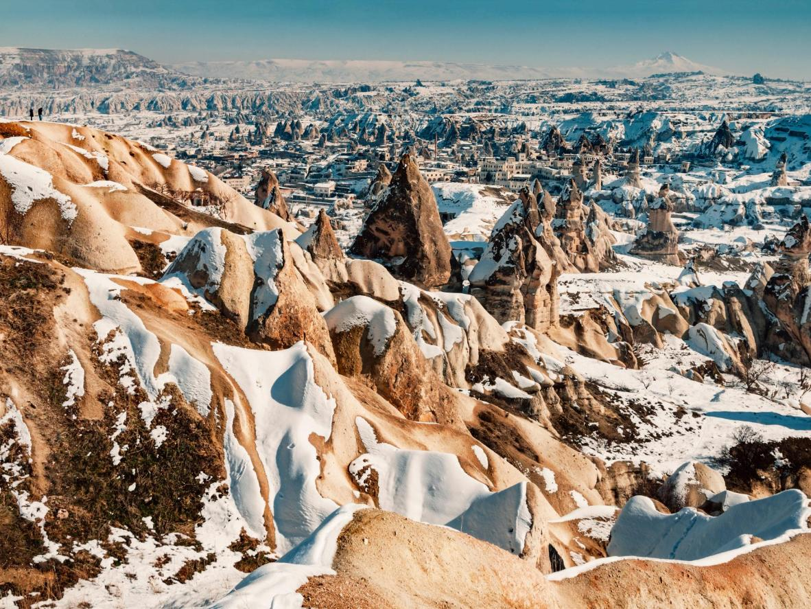 Winter snowfall adds to Cappadocia's other-worldly feel