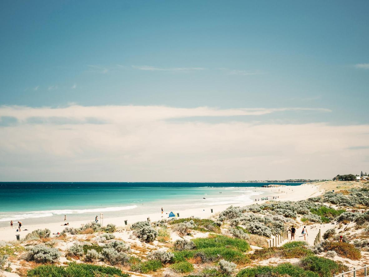 Check out the clean waters and great surf conditions at Scarborough Beach