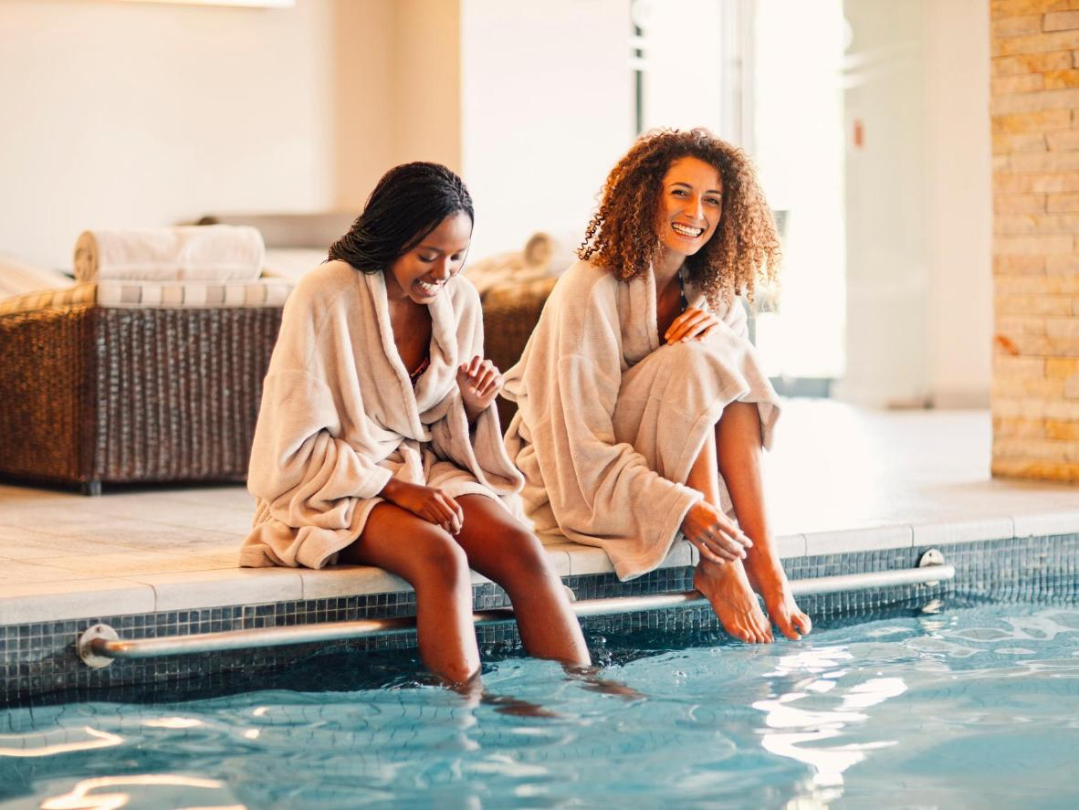 Burg's numerous thermal spas take mineral-rich water from an underground salt spring