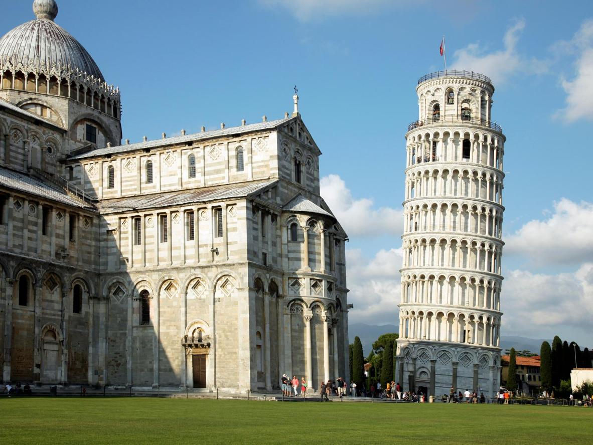 The precarious leaning tower of Pisa is classic Instagram fodder