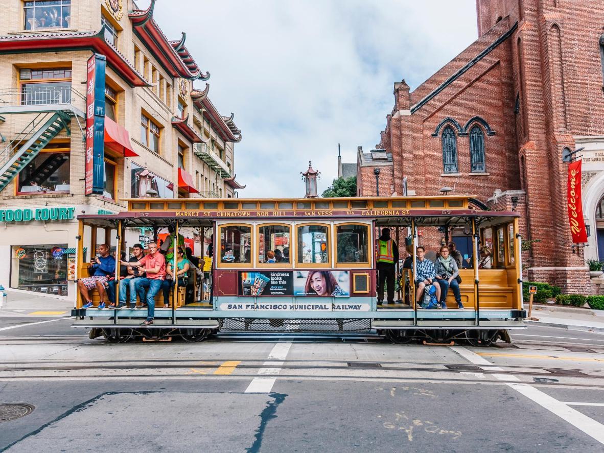 The final stop, sunny San Francisco