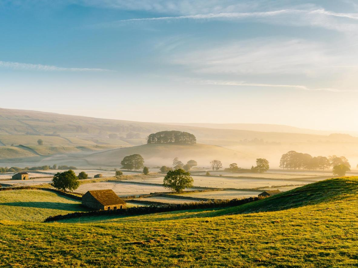 The English countryside is a picturesque setting for Wensleydale Creamery