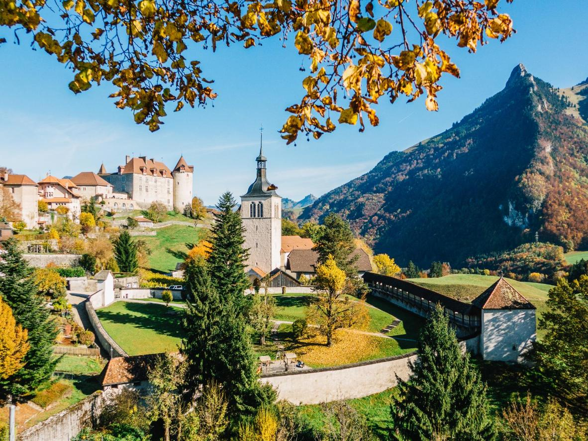 The fairytale village of Gruyères even has its own château