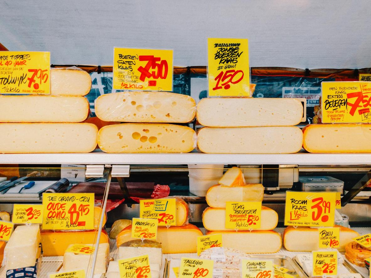 Amsterdam's many markets sell cheese by the kilo