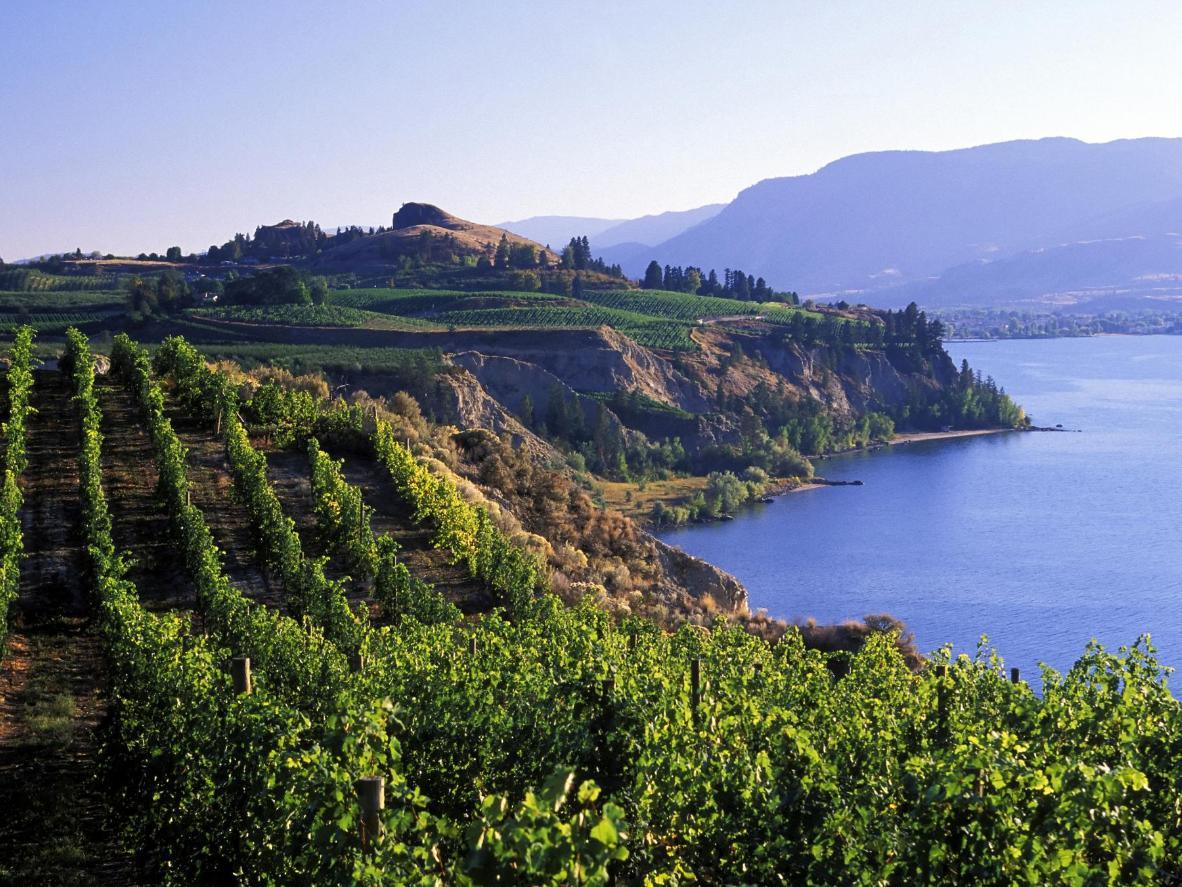 The Okanagan Valley in British Columbia