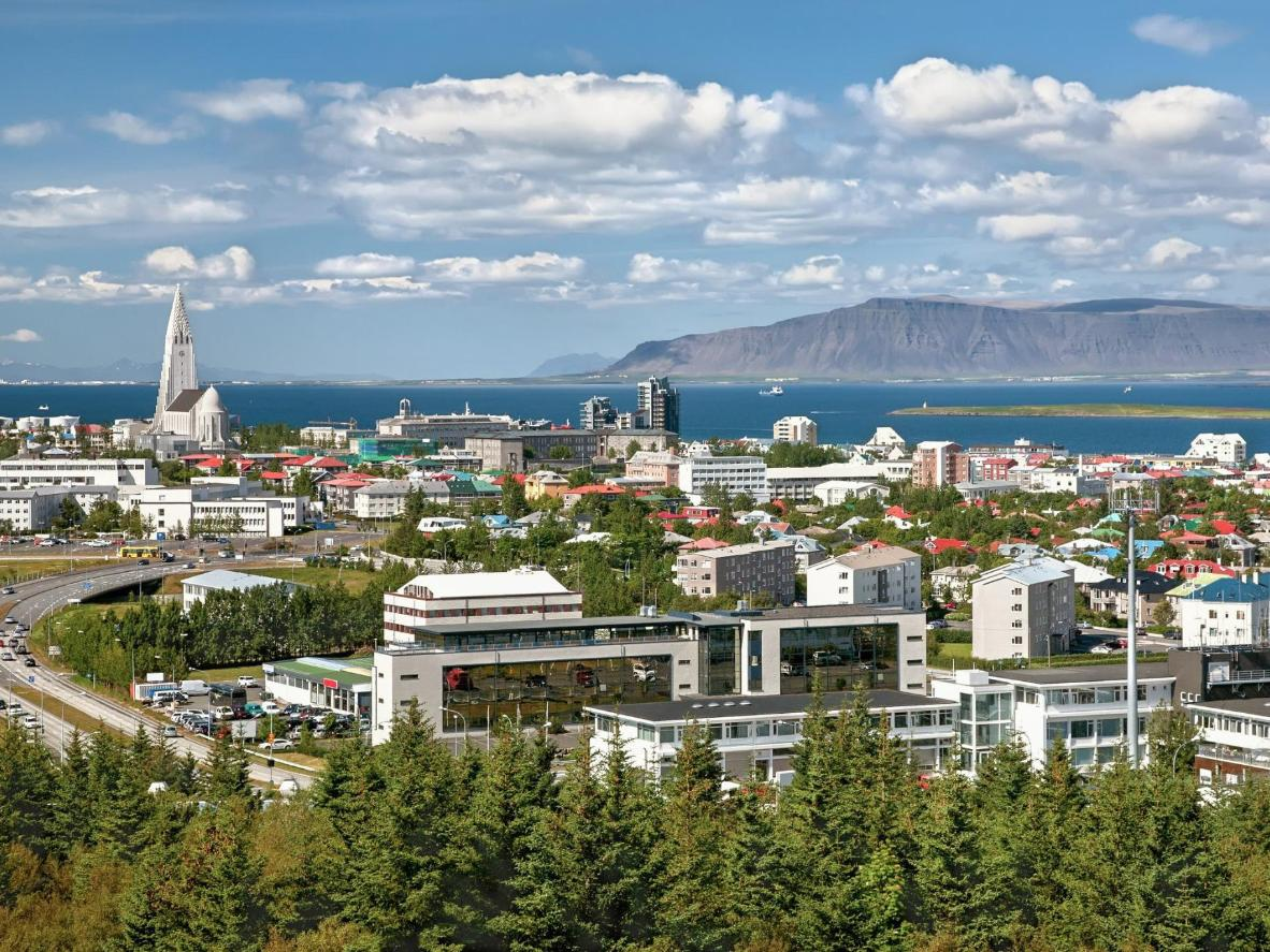 Reykjavik on a clear day
