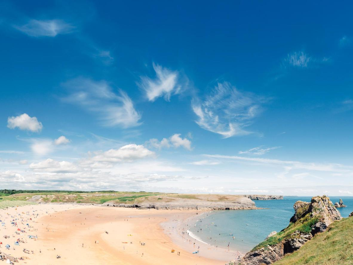 Broad Haven in Pembrokeshire, Wales