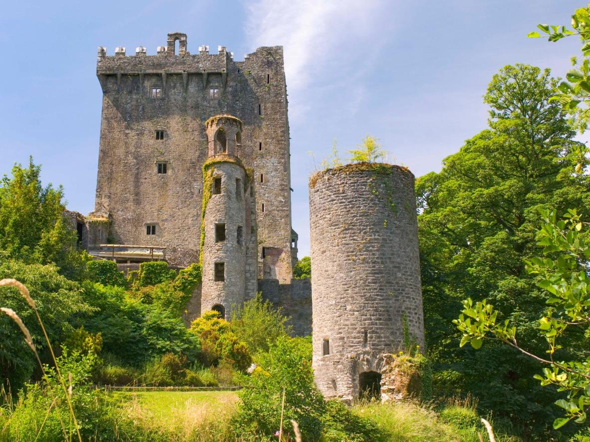 The famous Blarney Stone is said to provide 'the gift of the gab' to those who kiss it