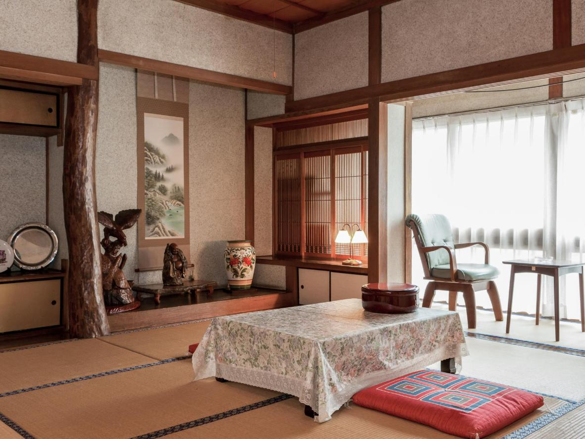 Stay in a traditional tatami room