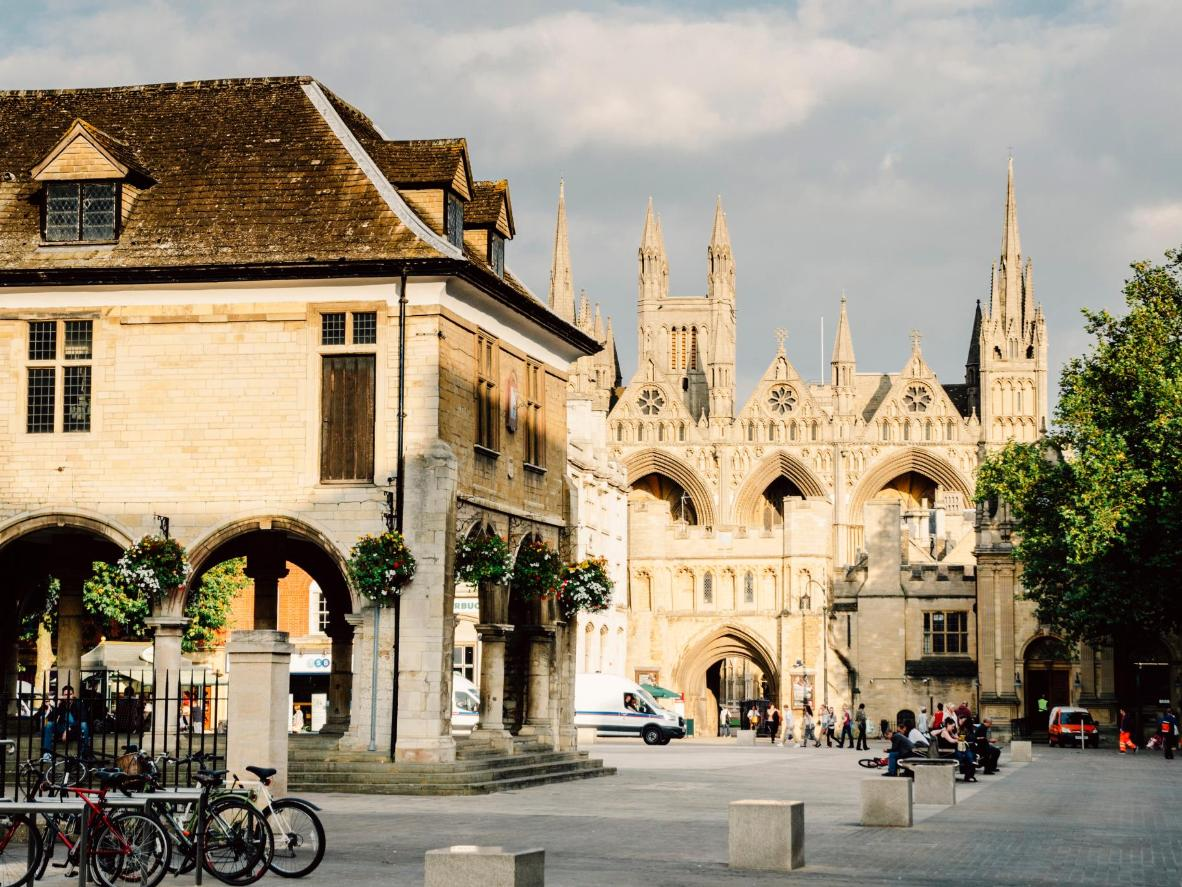 Peterborough Cathedral's design has not been seen before or since