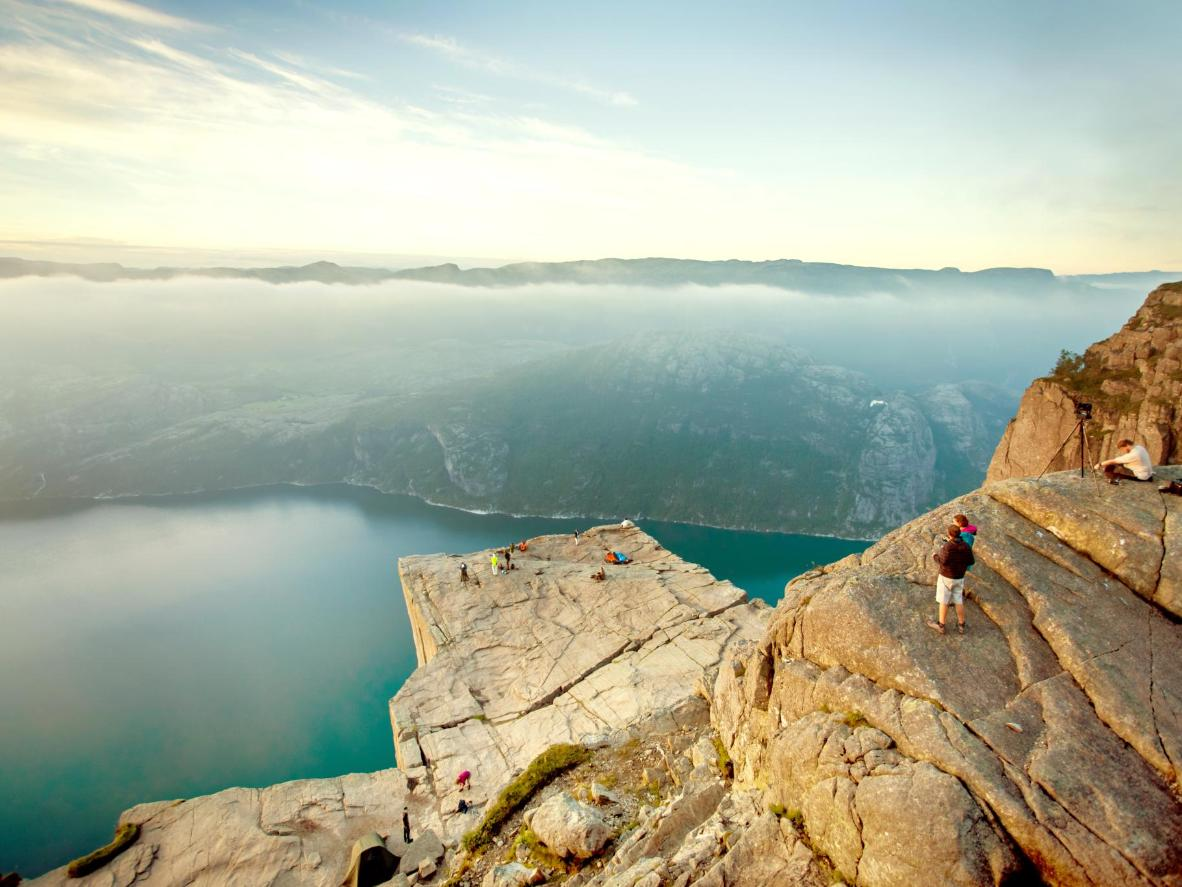 Hike to the top of Pulpit Rock, Norway