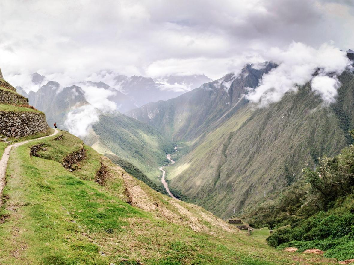 Trek to the Inca citadel of Machu Picchu in Peru