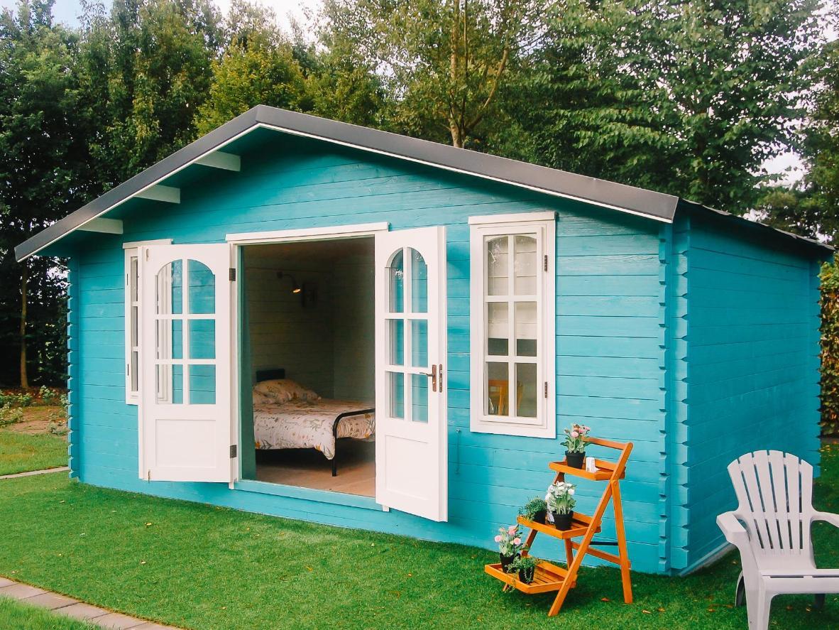 Stay in De Buiten Bij's pretty wooden cabins