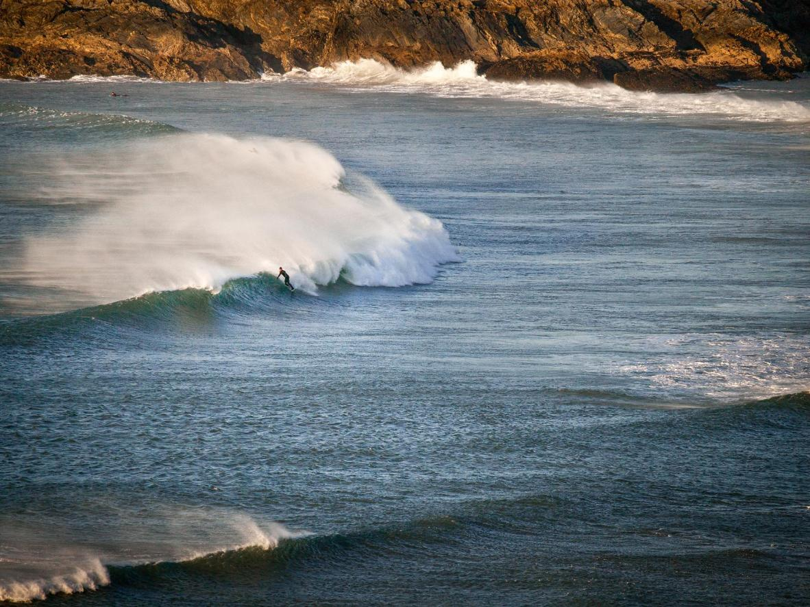 Newquay's Atlantic swells are ideal for surfing