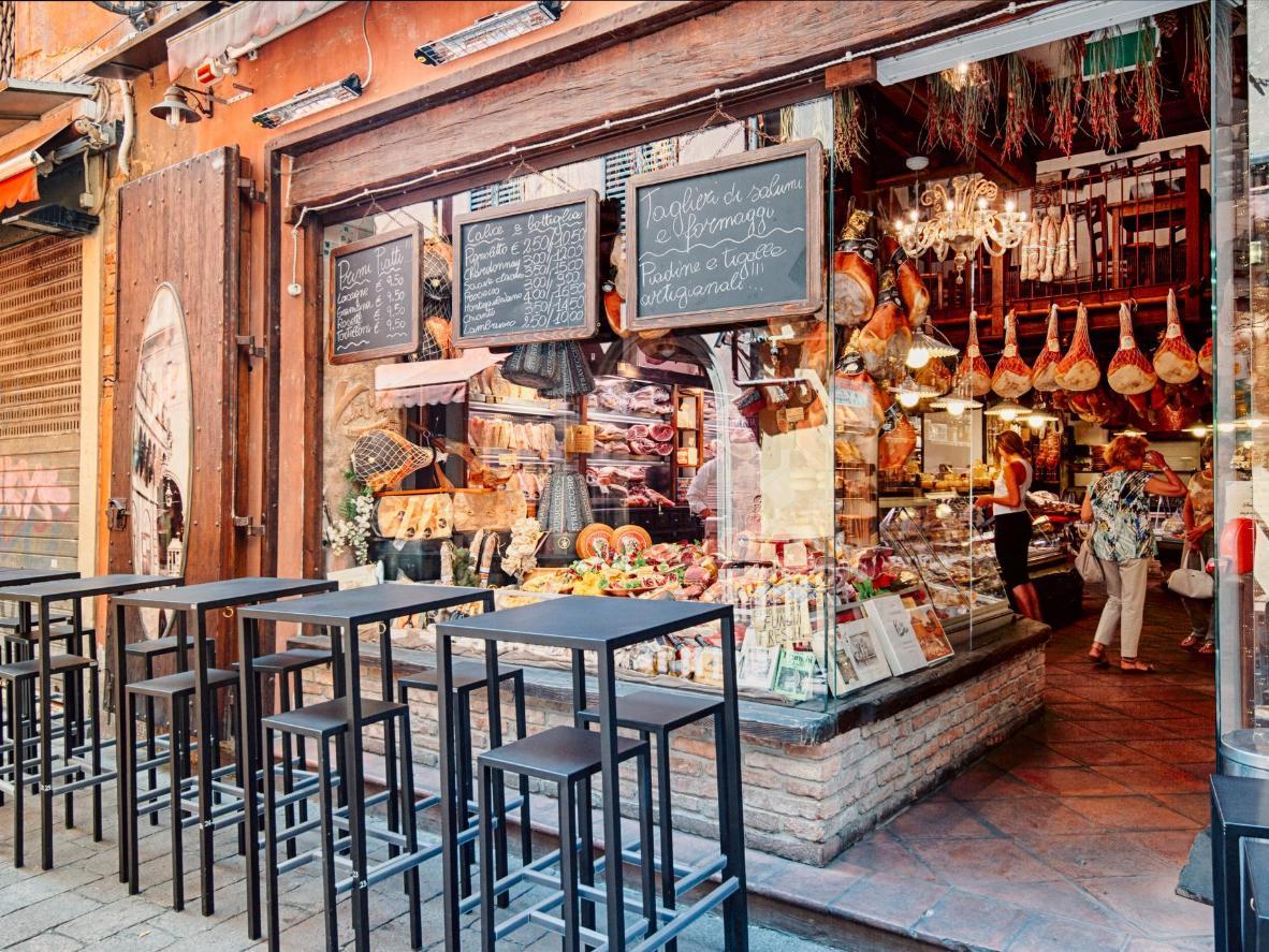 A treasure trove of a deli in Bologna