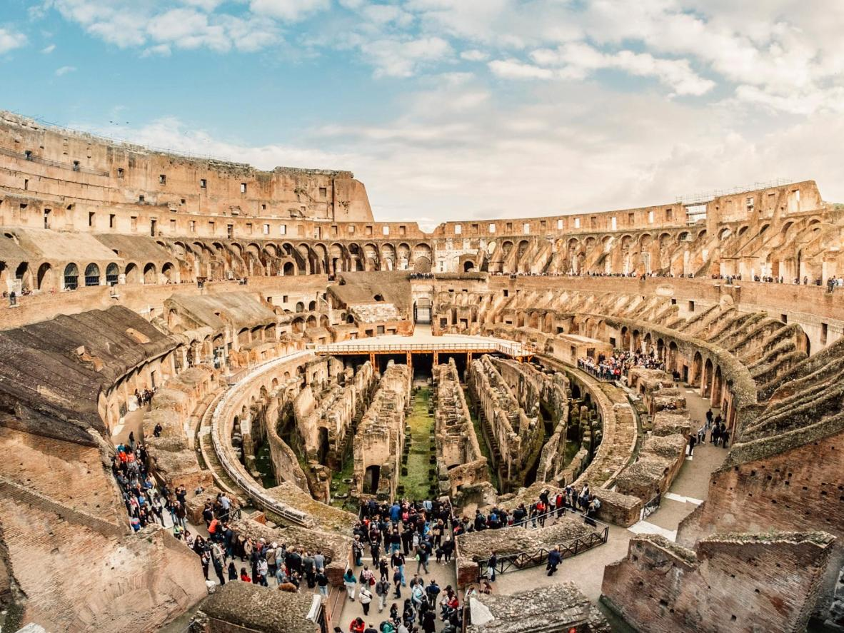 Rome's remarkably-intact and mighty Colosseum