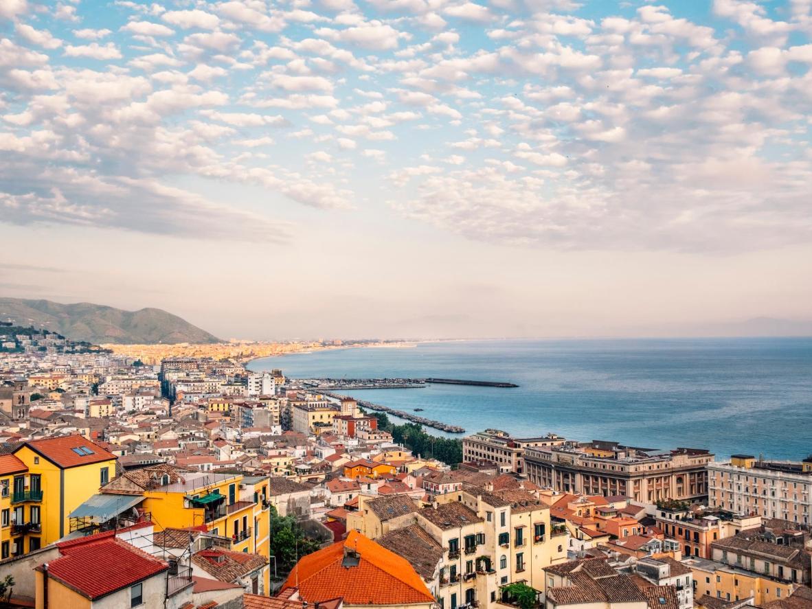 Glorious sea views along the Amalfi Coast