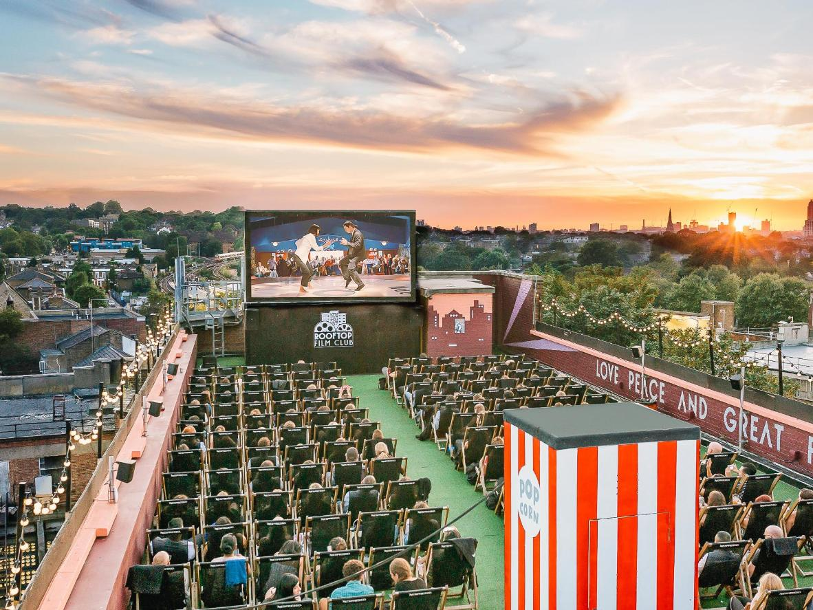 Rooftop cinema pulled off with aplomb in London