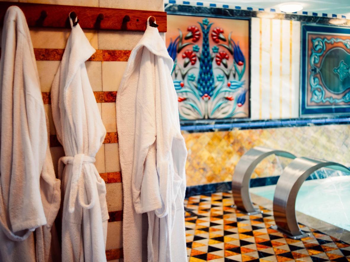 A private hot spring bath in Haymana, Turkey