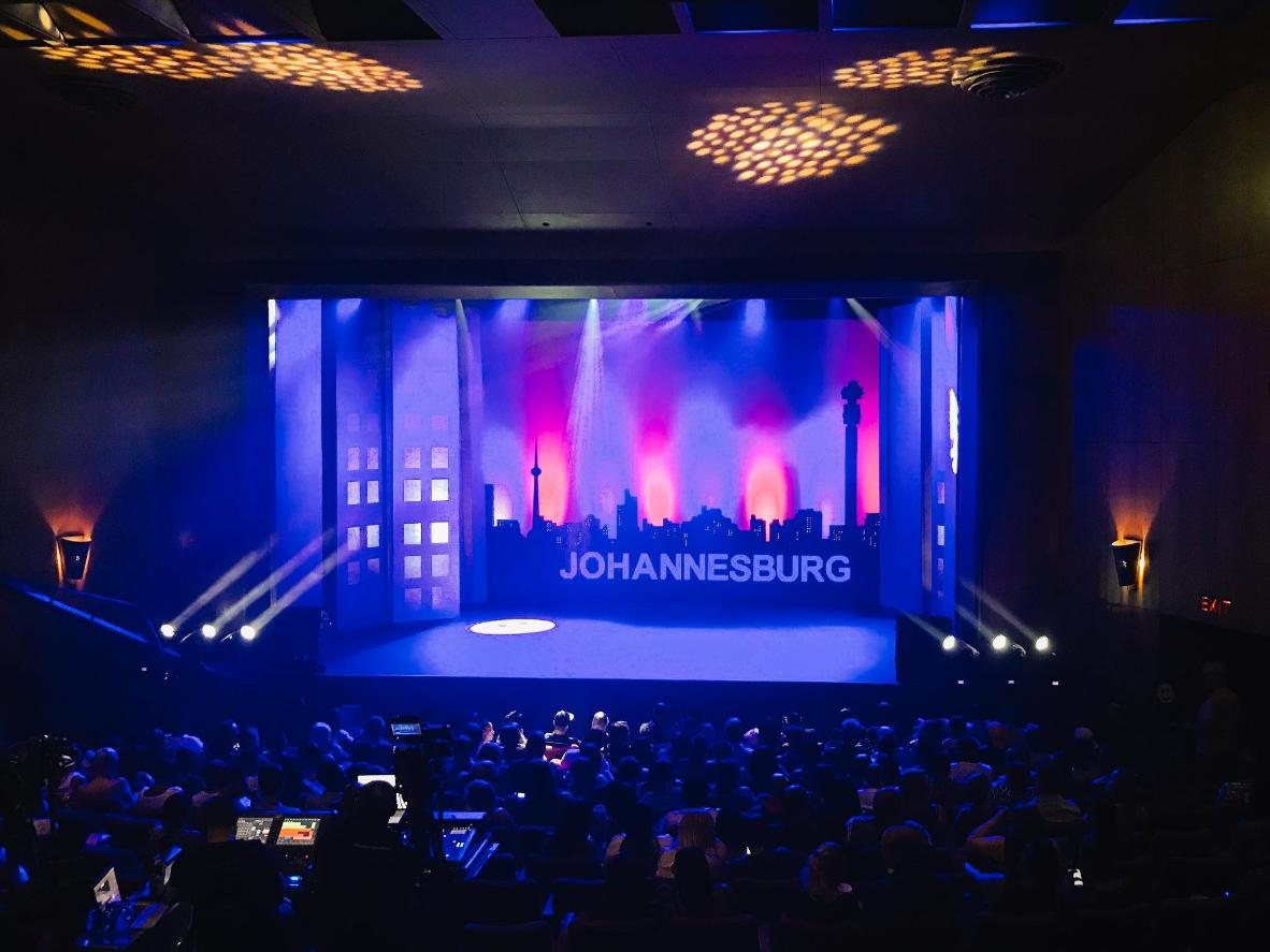 One of the many stages at the Johannesburg International Comedy Festival