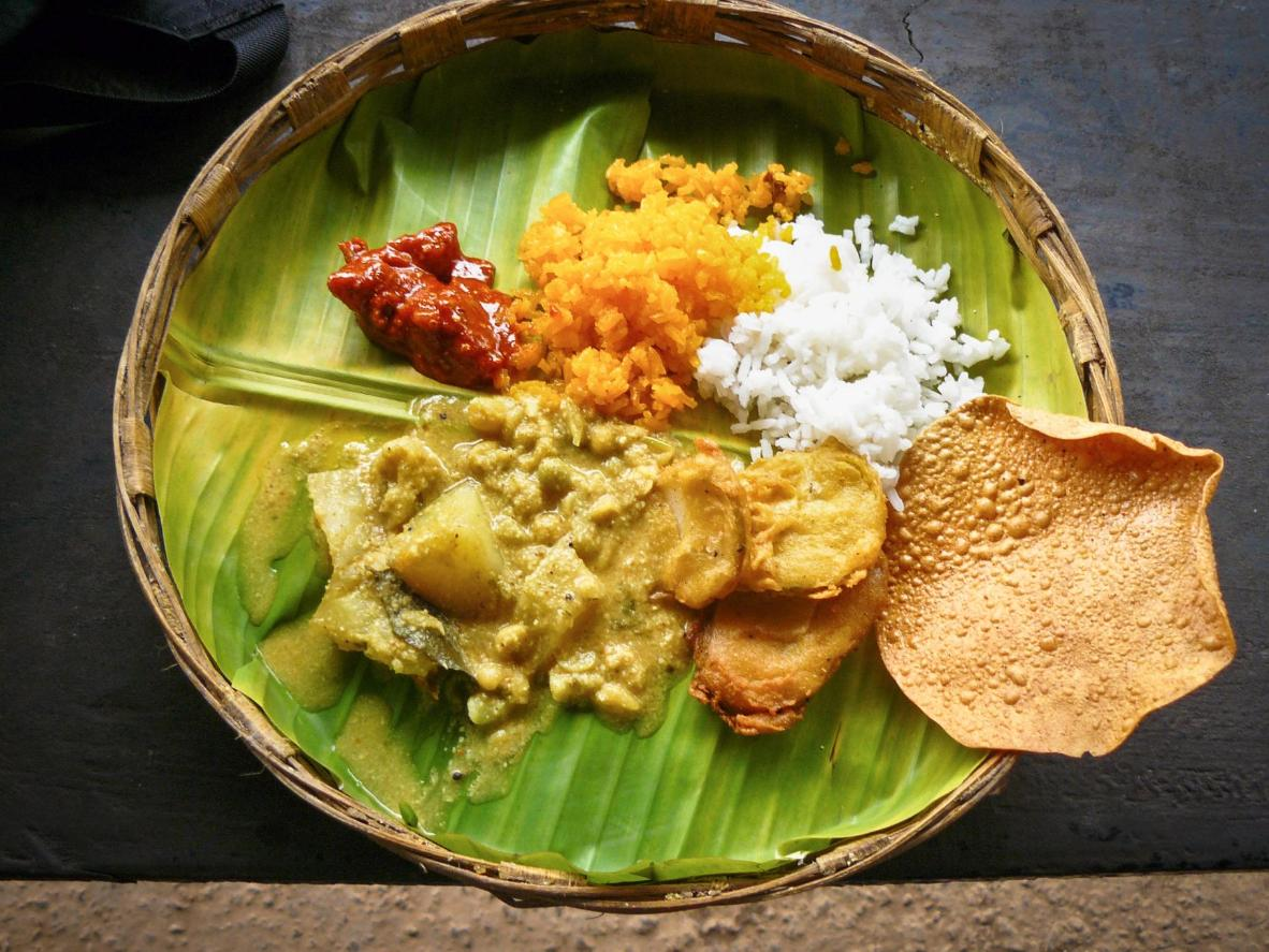 Sample the unique flavours offered by a banana leaf plate