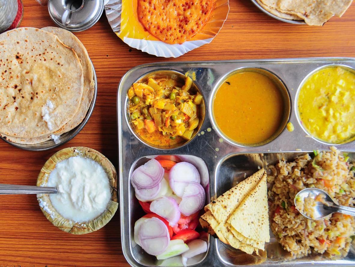 Tuck into Gujarati Thali for lunch