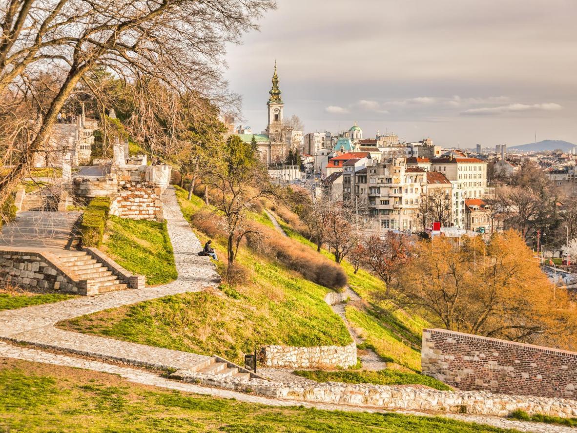 Widok na Belgrad o świcie