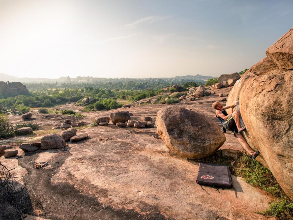 The boulderfield in Hampi, India