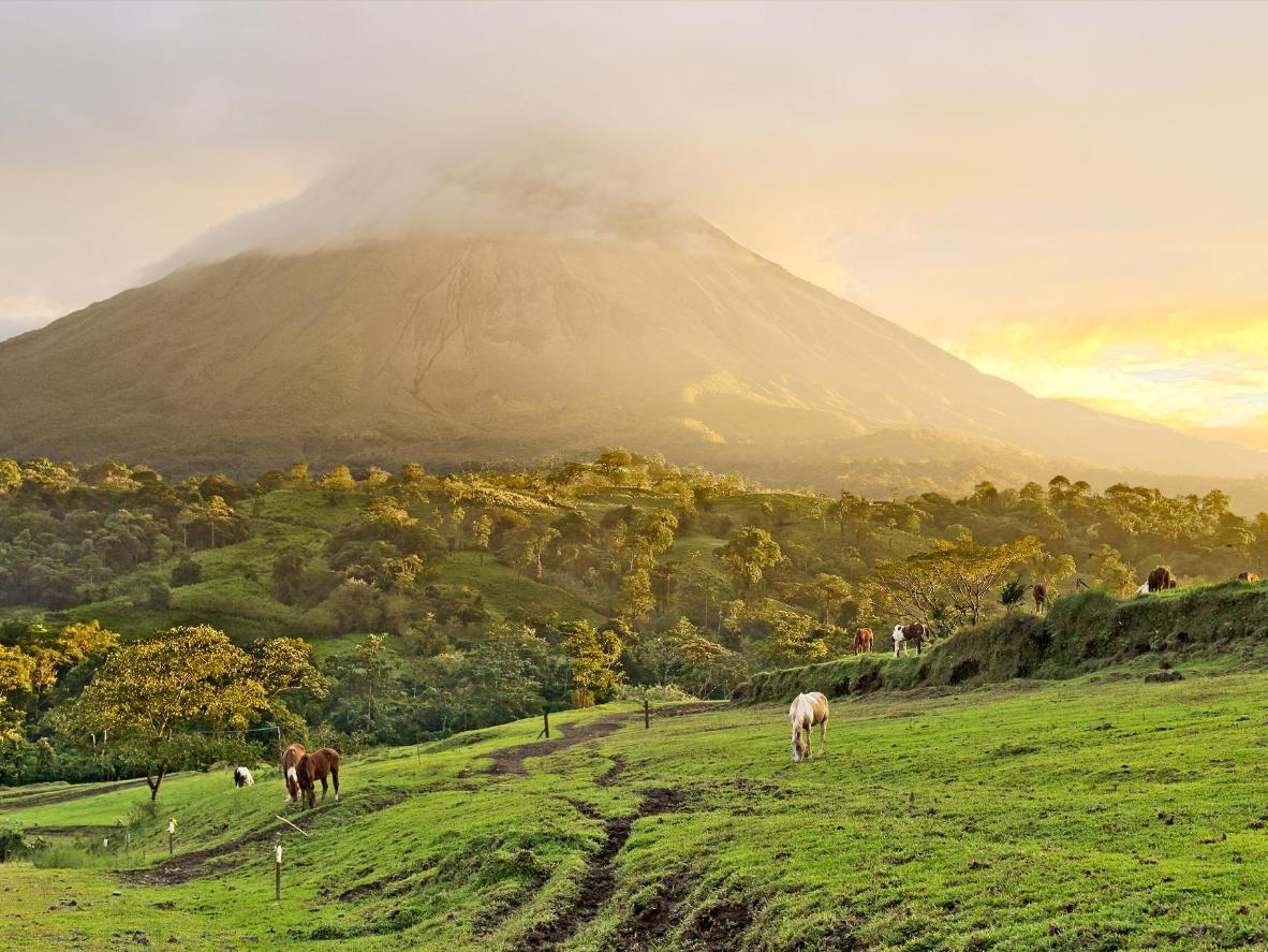 Arenal Volcano at the beginning of the dry season