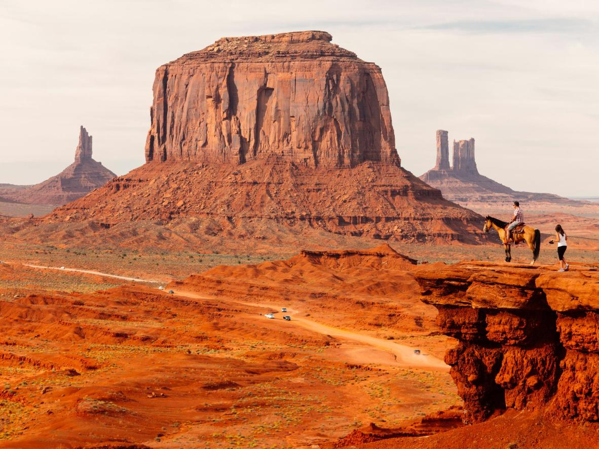 Monument Valley was created over a period of millions of years