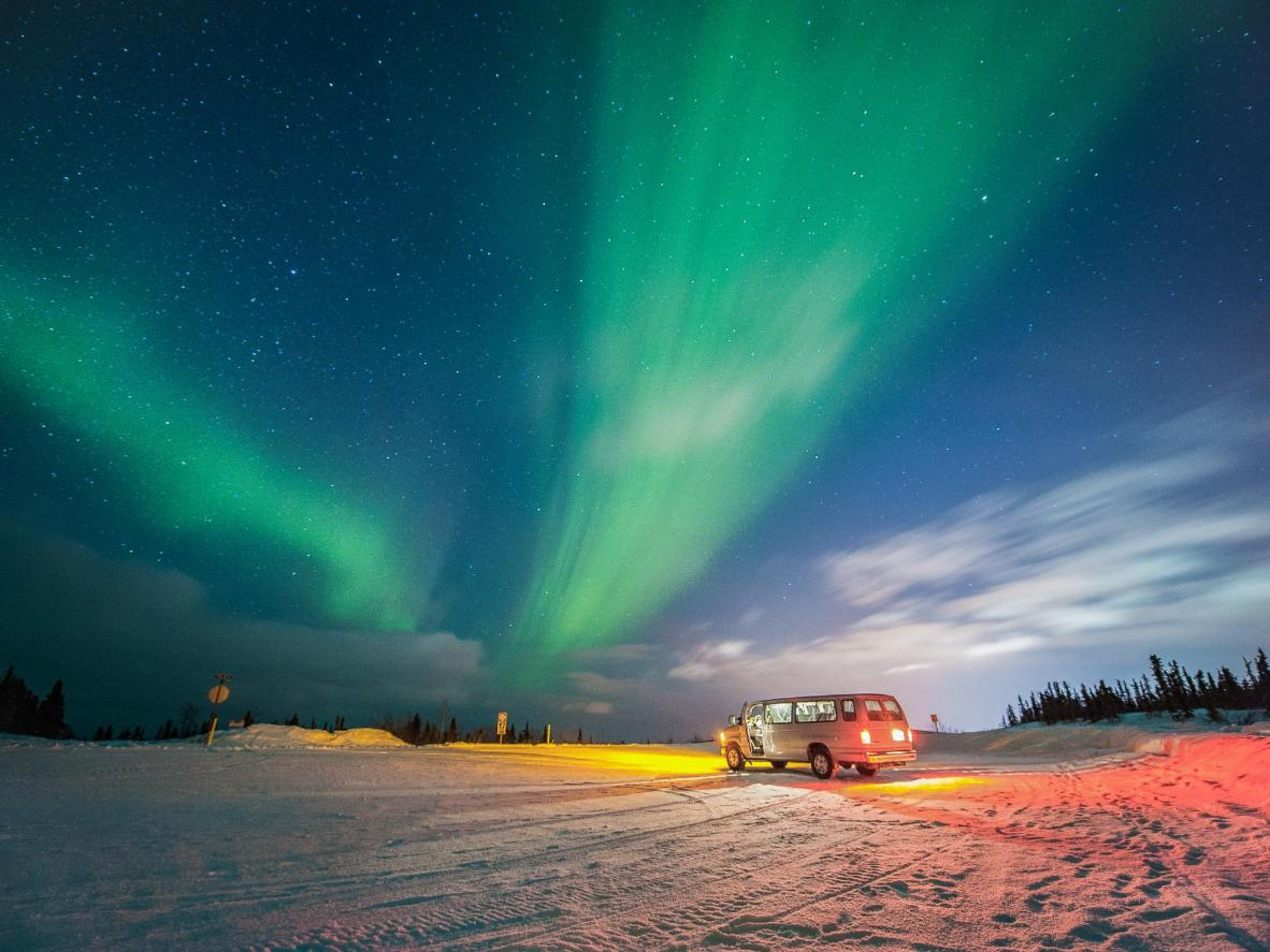 Seeing the Northern Lights is almost guaranteed in Fairbanks